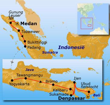 Route Sumatra, Java en Bali, 30 dagen