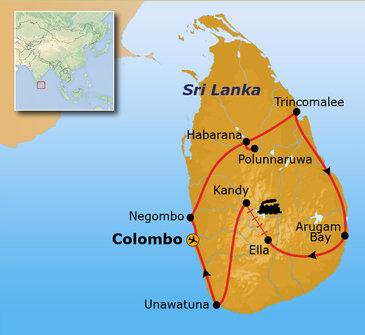 22-35ers reis Sri Lanka