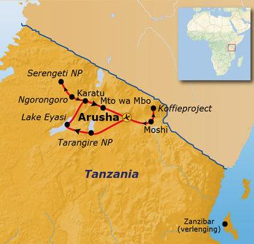 Route Tanzania, 13 dagen