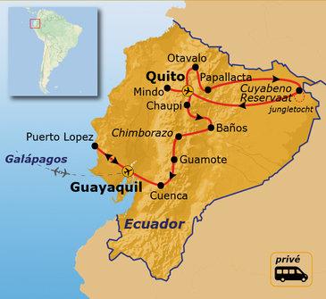 Route Ecuador, 22 dagen