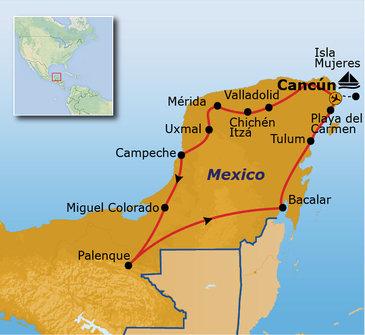 Route Mexico, 18 dagen