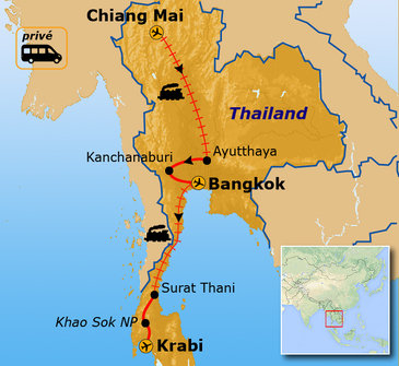 Route Thailand oktober - april / Krabi