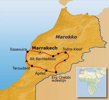 Nieuwe route Marokko hoogtepunten, 10 dagen