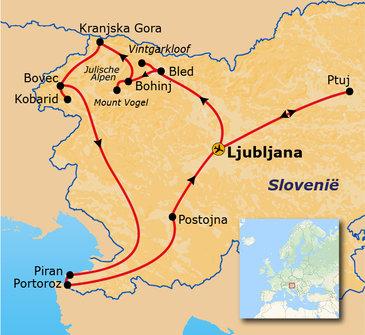 Route Slovenië , 10 dagen