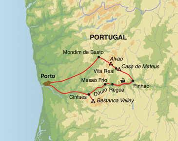 Route 8 daagse wandelvakantie Douro Vallei
