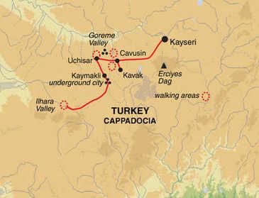 Route 8 daagse wandelvakantie Turkije - Cappadocië