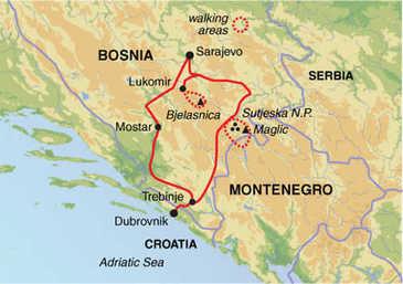 Route 10 daagse wandelvakantie Bosnië & Herzegovina