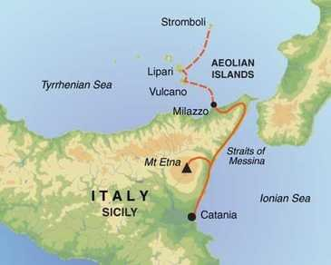 Route 8 daagse wandelvakantie Sicilië