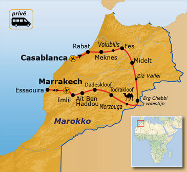 Route Marokko, 15 dagen