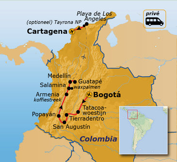 Route Colombia, 21 dagen
