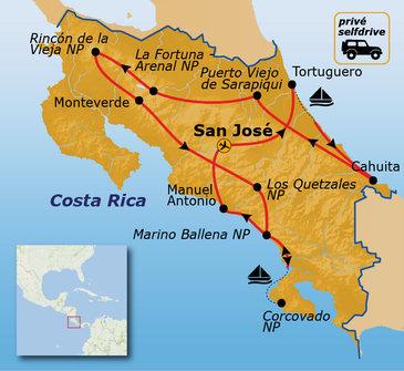 Route Costa Rica, 23 dagen