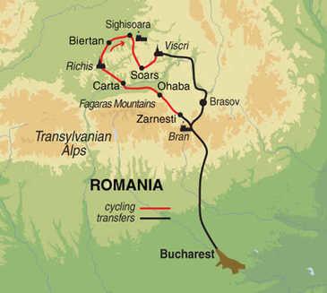 Route 9-daagse fietsvakantie Roemenië