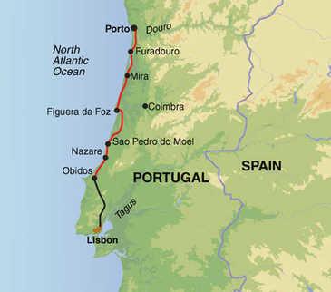 Route 8-daagse fietsvakantie Portugal