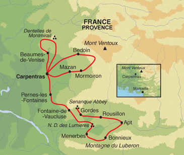 route 8 daagse fietsvakantie provence