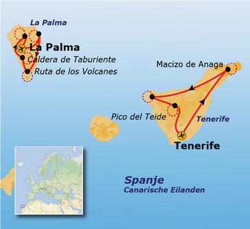 Route 10 daagse wandelvakantie Tenerife & La Palma