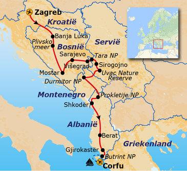 Route Zuid-Oost Europa, 22 dagen