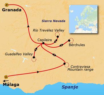 Route 8 daagse wandelvakantie Sierra Nevada & Granada