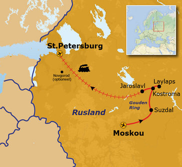 route Rusland, 13-daagse reis