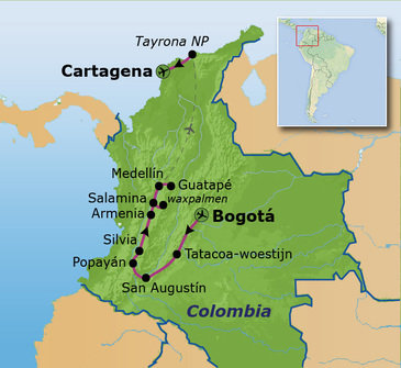 Route Colombia, 23 dagen