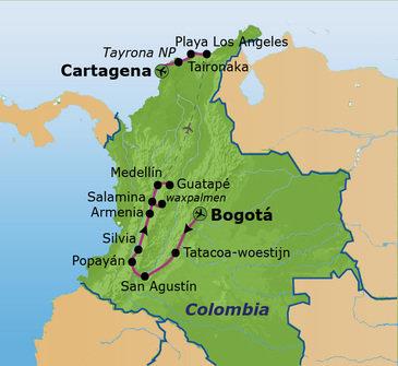 Route Colombia, 23 dagen
