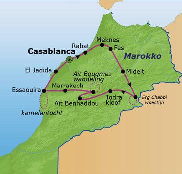 route Marokko Zomer, 21 dagen