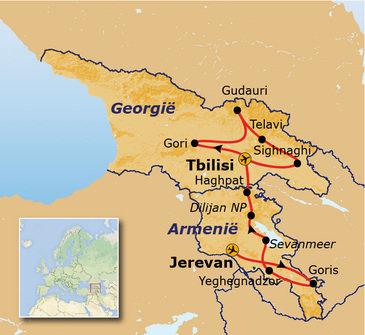 route Armenië en Georgië, 18 dagen