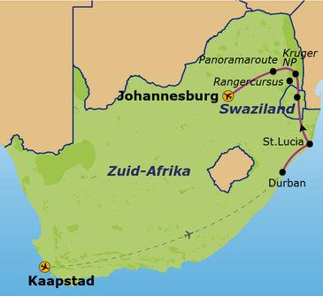 Zuid-Afrika, 16 dagen, Kaapstad - Jo'burg