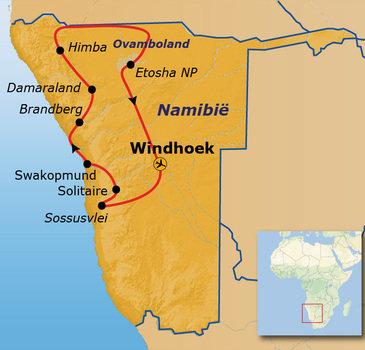 Route Namibië - 19-daagse reis