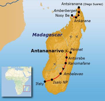 Route Madagascar, 25 dagen