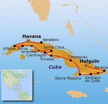 Route Cuba, 21 dagen