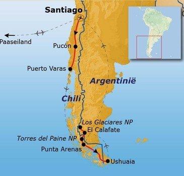 Route Patagonië / Paaseiland, 30 dagen