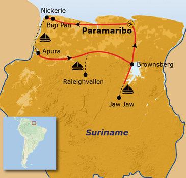 Route Suriname, 21 dagen