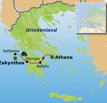 Route Griekenland meivakantie, 9 dagen