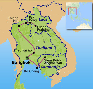 Route Indochina Familiereis, 22 dagen