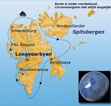 Route 18 dagen Spitsbergen