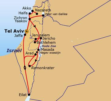 Route Israël 2019, 12 dagen
