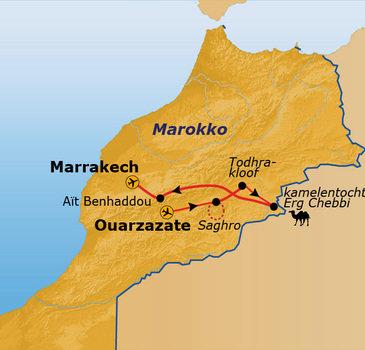 Route Marokko, 13 dagen