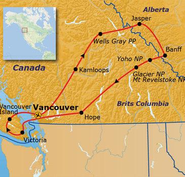Route Canada, 23 dagen