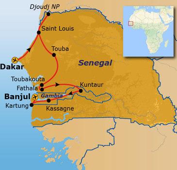 Route Senegal en Gambia, 16 dagen