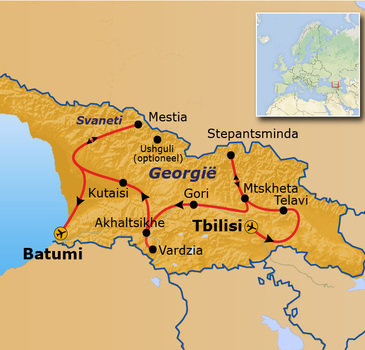 route Georgië - 16 dagen