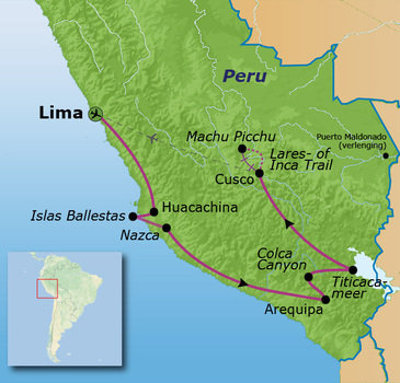 Route Peru, 23 dagen