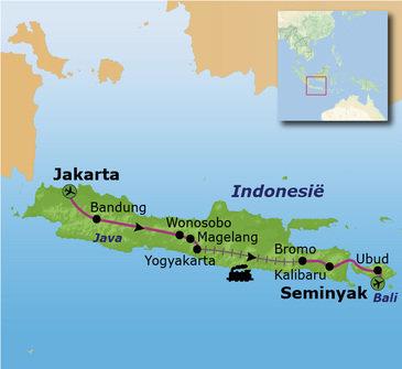 Route Java en Bali, 22 dagen