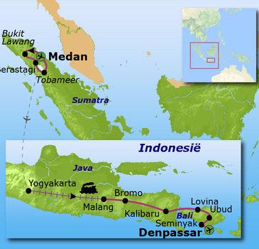 Route Sumatra, Java en Bali, 23 dagen