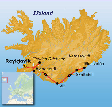 Route IJsland, 8 dagen