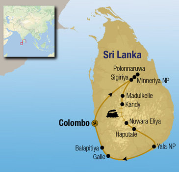 Route Sri Lanka Comfort Plus, 18 dagen
