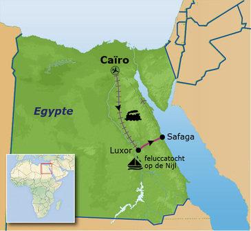 Route Egypte, 9 dagen