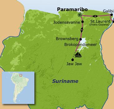 Route Suriname, 19 dagen