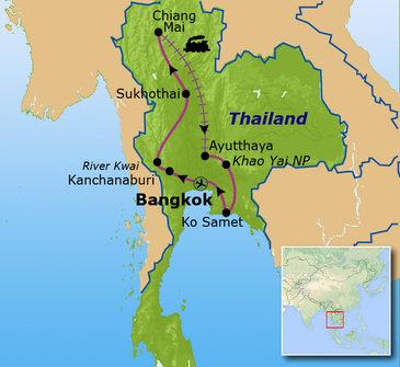 Route Thailand, 21 dagen