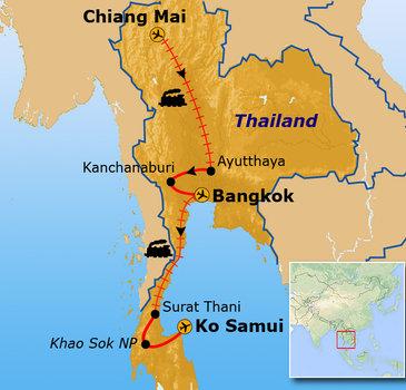 Route Thailand mei - september / Koh Samui