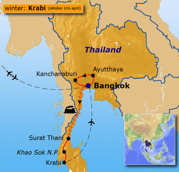 Route Thailand oktober - april